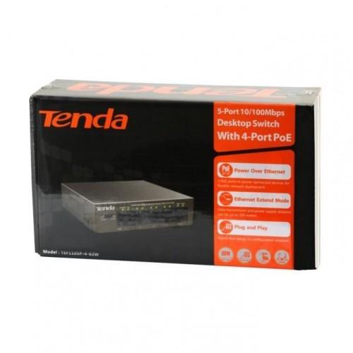 Stikalo 100M 05xRJ45 4x PoE Tenda Mini